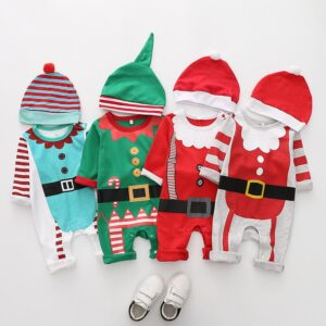 Christmas baby rompers